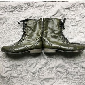 GREEN Leather STEVE MADDEN Boots